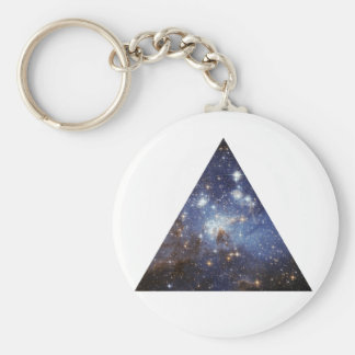 hipster space triangle keychain