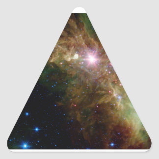 Hipster Space Triangle sticker