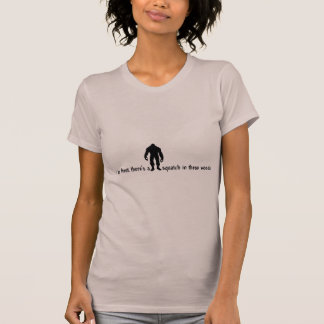 Hipster SQUATCH IN THESE WOODS - Finding Bigfoot T-Shirt