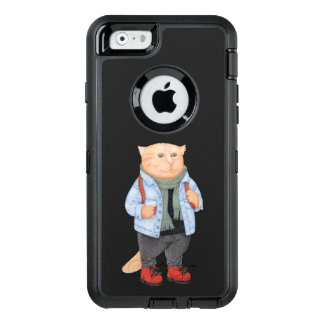 Hipster Student Cat OtterBox Defender iPhone Case