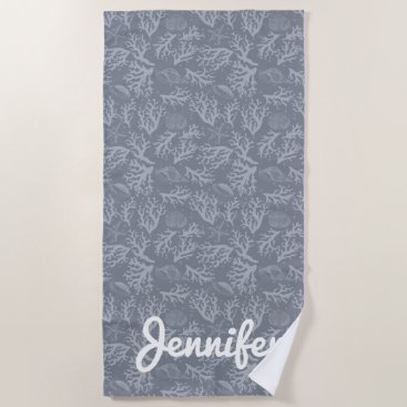 Beach Themed Hipster Style Coral Reef Beach Towel