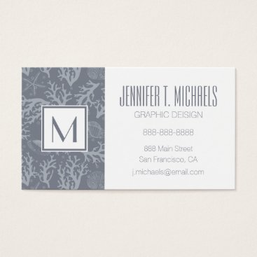 Beach Themed Hipster Style Coral Reef Business Card