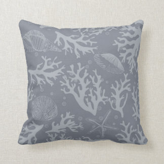 Hipster Style Coral Reef Throw Pillow
