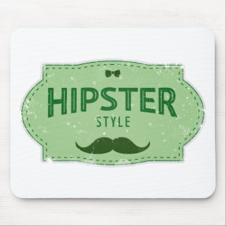 Hipster Style Logo Lable Mouse Pad