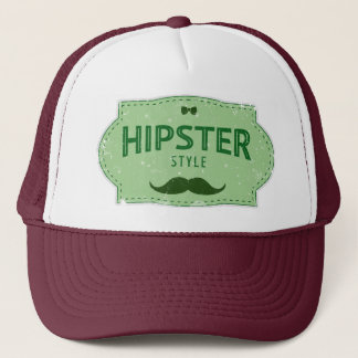 Hipster Style Logo Lable Trucker Hat