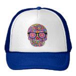 Hipster Sugar Skull Hat - Day of the Dead Art