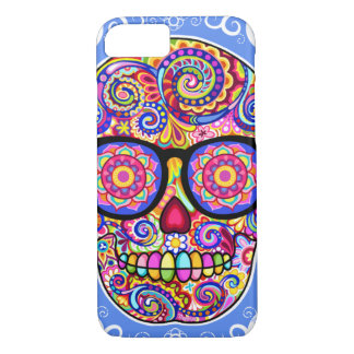 Hipster Sugar Skull iPhone 7 case