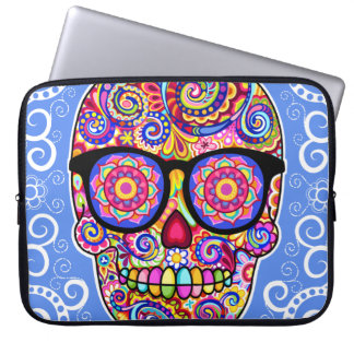 Hipster Sugar Skull Laptop Sleeve Laptop Computer Sleeve