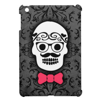Hipster Sugar Skull with Bowtie iPad Mini Case