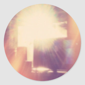 Hipster Sunlight Round Sticker