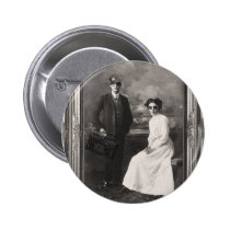funny, swag, hipster, couple, photography, humor, cool, black and white, hip hop, vintage photography, black, collage, white, urban, street, fun, glasses, graffiti, buttons, Button with custom graphic design