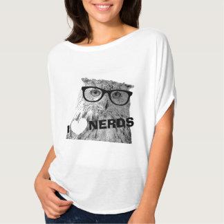 Hipster t shirt for women | I love nerds