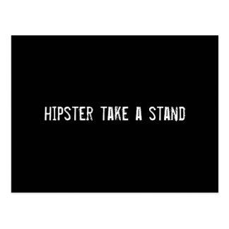 hipster take a stand postcard