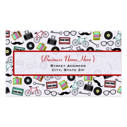 Hipster themed business card zazzle for Hipster business card