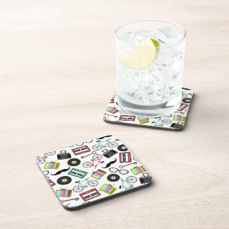 Hipster Themed Cork Coasters