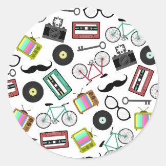 Hipster Themed Envelope Seal Sticker
