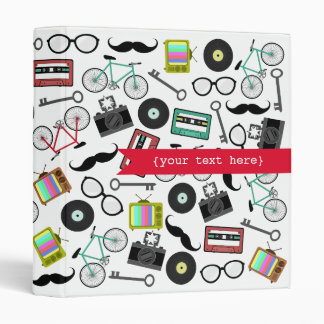 Hipster Themed Personalized Binder
