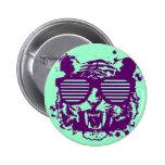 Hipster Tiger 2 Inch Round Button