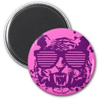 Hipster Tiger Magnet