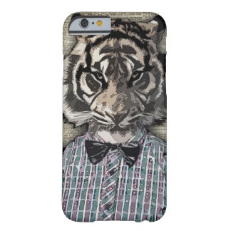 HIPSTER TIGER  Plaid Shirt Vintage Dictionary Art Barely There iPhone 6 Case
