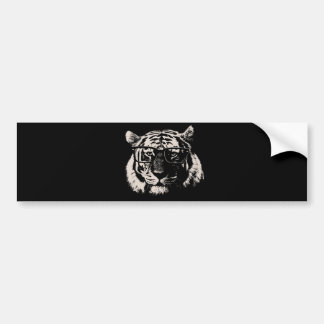 Hipster Tiger With Glasses Bumper Sticker