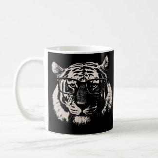Hipster Tiger With Glasses Coffee Mug