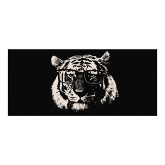 Hipster Tiger With Glasses Personalized Rack Card