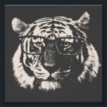 "Hipster Tiger With Glasses Photo Print<br><div class=""desc""></div>"