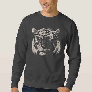Hipster Tiger With Glasses Sweatshirt