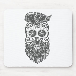 Hipster to sugar skull 1 mouse pad