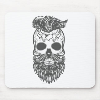 Hipster to sugar skull 2 mouse pad