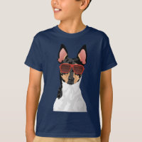 Hipster Toy Fox Terrier T-Shirt for Dog Lovers