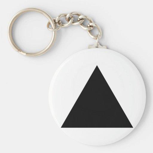 hipster triangle basic round button keychain