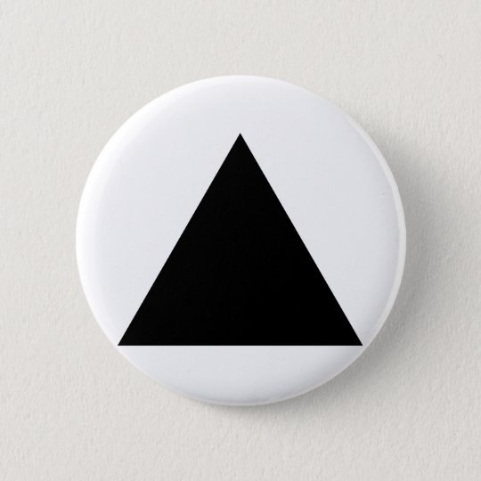 hipster triangle pinback button