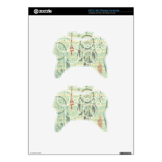 Hipster,tripal,pattern,grunge,retro,trendy,girly Xbox 360 Controller Decal