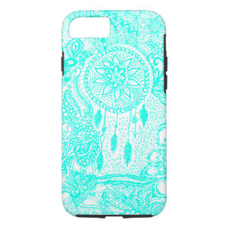 Hipster turquoise dreamcatcher floral doodles iPhone 7 case