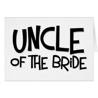 Hipster Uncle of the Bride Card