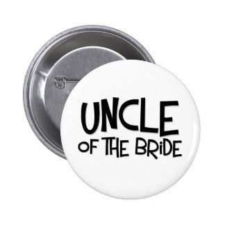 Hipster Uncle of the Bride Pinback Button