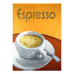 Hipster - Vintage Espresso Coffee Painting Invite