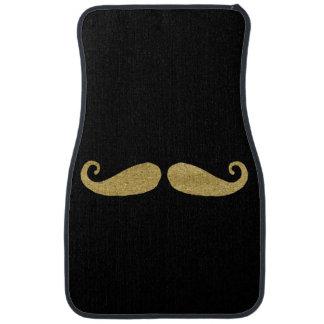 Hipster Vintage Gold Look Moustache Car Floor Mat