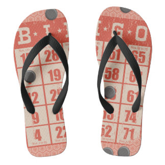 hipster vintage red bingo card game board game flip flops