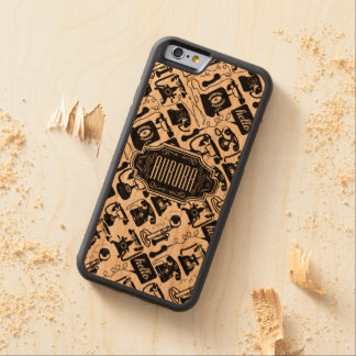 Hipster Vintage Retro Personalized Phone Pattern Carved Cherry iPhone 6 Bumper Case