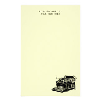 Hipster Vintage Typewriter Notepad Stationery
