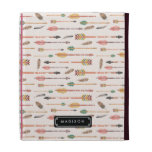 Hipster Watercolor Arrows & Feathers Personalized iPad Case