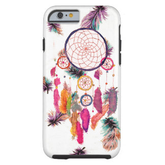 Hipster Watercolor Dreamcatcher Feathers Pattern iPhone 6 Case