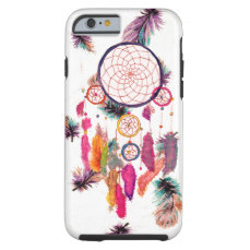 Hipster Watercolor Dreamcatcher Feathers Pattern Tough iPhone 6 Case