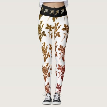 Beach Themed HIPSTER-WEAR-TOILE-ROSES-VINTAGE---LEGGING'S_XS-XL LEGGINGS