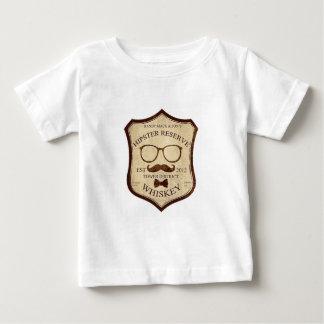 hipster whiskey logo baby T-Shirt