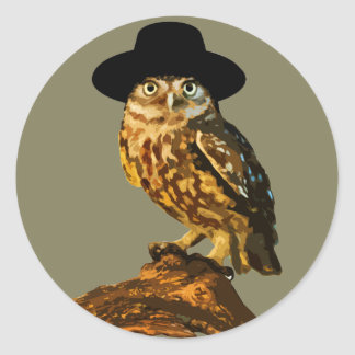 hipster wise owl sticker