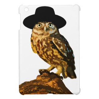 hipster wise owl sticker iPad mini cover